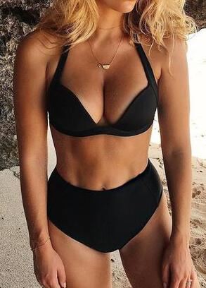 Sexy High Waist Bikini Set - fashionyanclothes