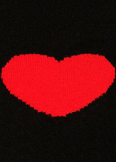 Turtleneck Heart-shaped Loose Sweater - fashionyanclothes