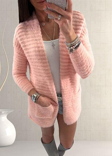 Pocket Hem Knitting Cardigan
