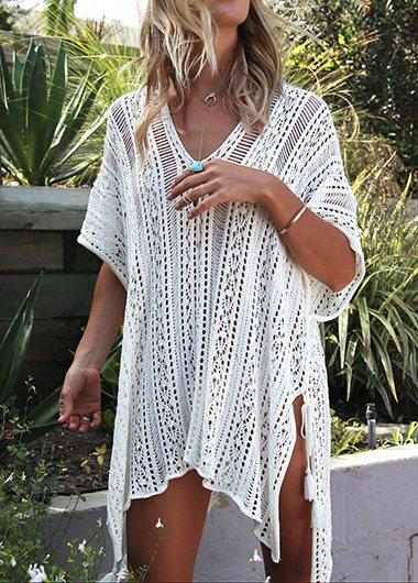 Knitted Loose Beach Cover Up - fashionyanclothes
