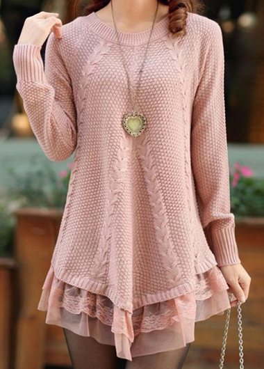 Lace Thickening Loose Sweater
