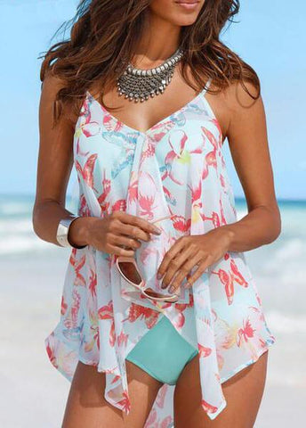 Bandage Cover Up Sexy Backless Tankini - esshe