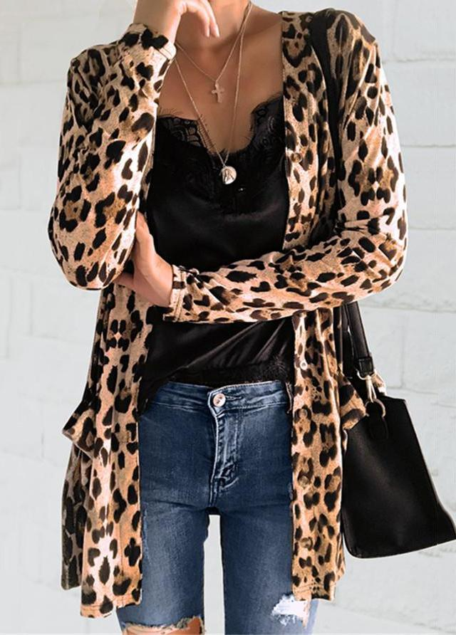 Fashion Leopard Printed Cardigan - fashionyanclothes