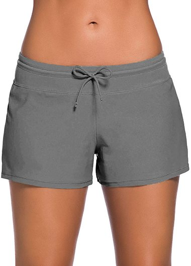 Drawstring Waist Swimwear Shorts - fashionyanclothes