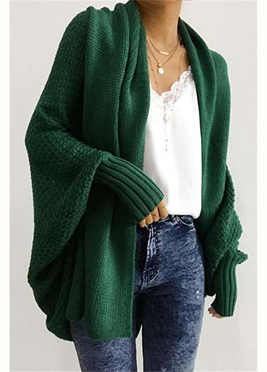 Plus Size Solid Cardigan