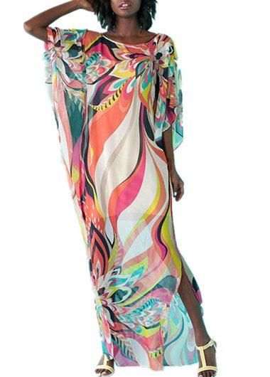 Chiffon Printed Holiday Cover Up - fashionyanclothes