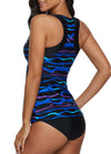 Geommetric Printed Tankini Set - fashionyanclothes