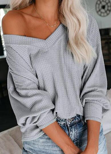 Hot Sale V Neck Off The Shoulder Top