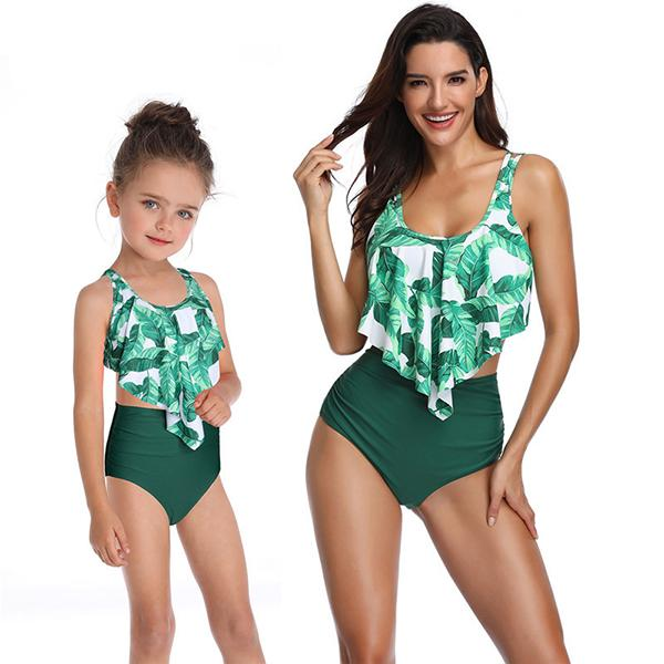 Family  High Waisted Ruffled Swimsuit