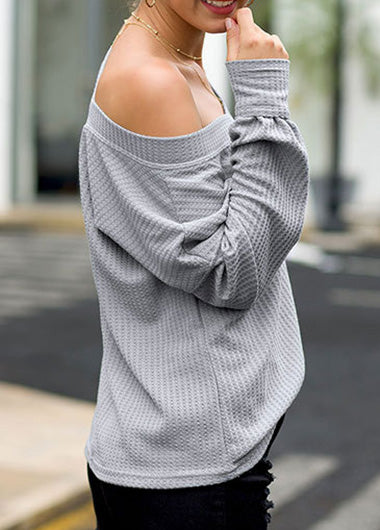 Hot Sale V Neck Off The Shoulder Top - fashionyanclothes