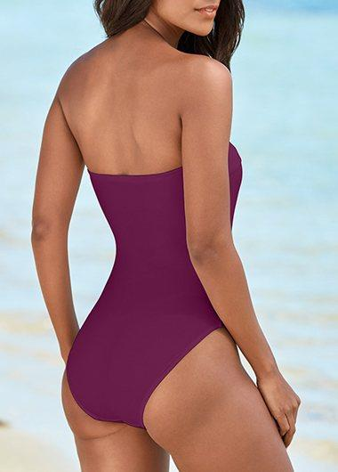 sexy Rivet detail One Piece swimwear