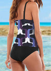 Geometrical Printed Two Pieces Tankini