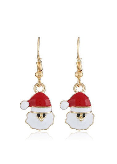 Santa Claus Pendant Earrings for Lady