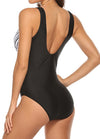 Color Block Twist Front One Piece