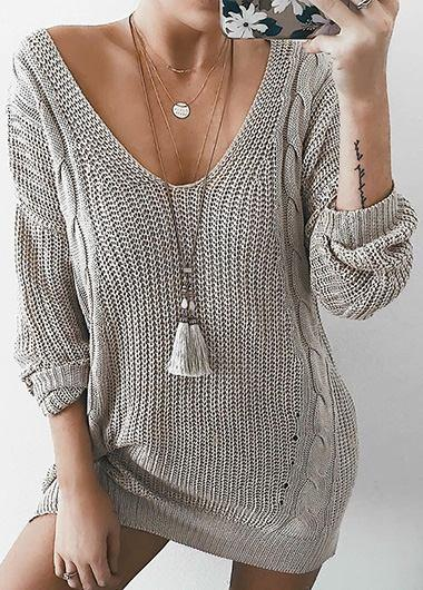 Casual Oversize Sweater Knitted sweater - fashionyanclothes