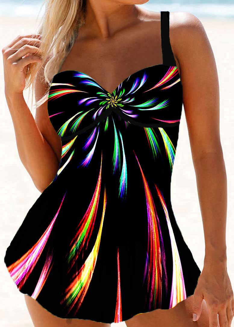 Psychedelic Print Padded Swimdress