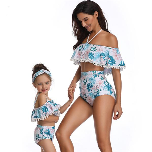 Mom & ME High Waist Printed  Swimsuit - fashionyanclothes