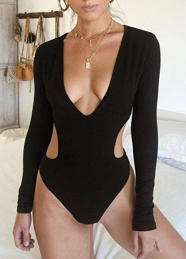 Solid Cut Out Monokini