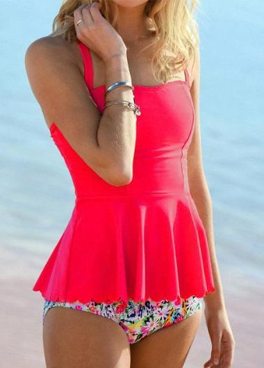 High Waisted Ruffle Tankini - fashionyanclothes