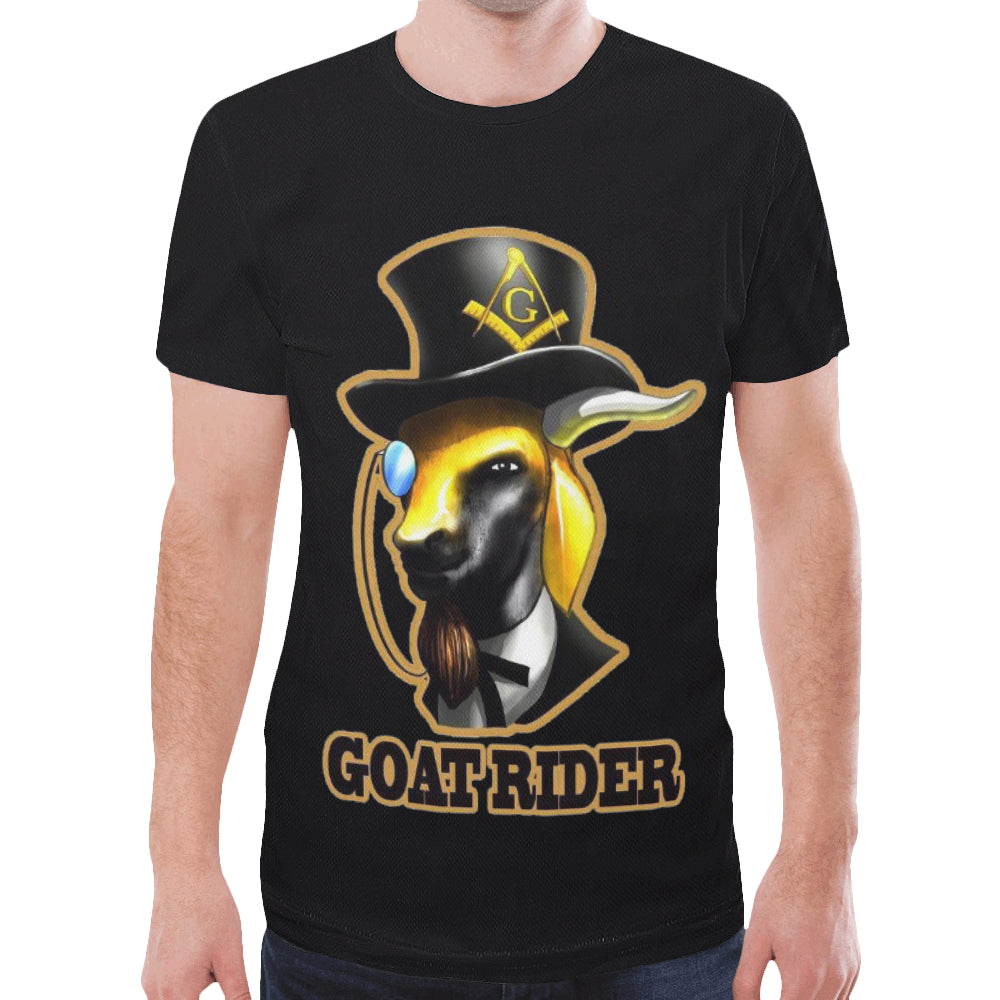goatrider1 4x-5x New All Over Print T-shirt for Men/Large Size (Model T45)