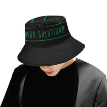 Load image into Gallery viewer, Uncommon Solutions black All Over Print Bucket Hat for Men