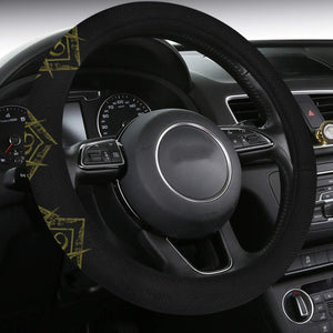 mason horizontal banner Steering Wheel Cover with Anti-Slip Insert