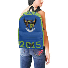 Load image into Gallery viewer, Blue and Green backpack Unisex Classic Backpack (Model 1673)