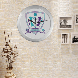 igp Silver Color Wall Clock
