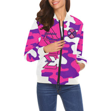 Load image into Gallery viewer, LSS All Over Print Bomber Jacket for Women (Model H19)