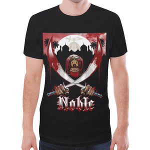 Noble 4x-5x New All Over Print T-shirt for Men/Large Size (Model T45)