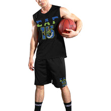 Load image into Gallery viewer, Black SAG '15 All Over Print Basketball Uniform