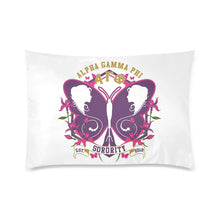 "Load image into Gallery viewer, Alpha Gamma Phi Custom Zippered Pillow Cases 20""x30""(Twin Sides)"
