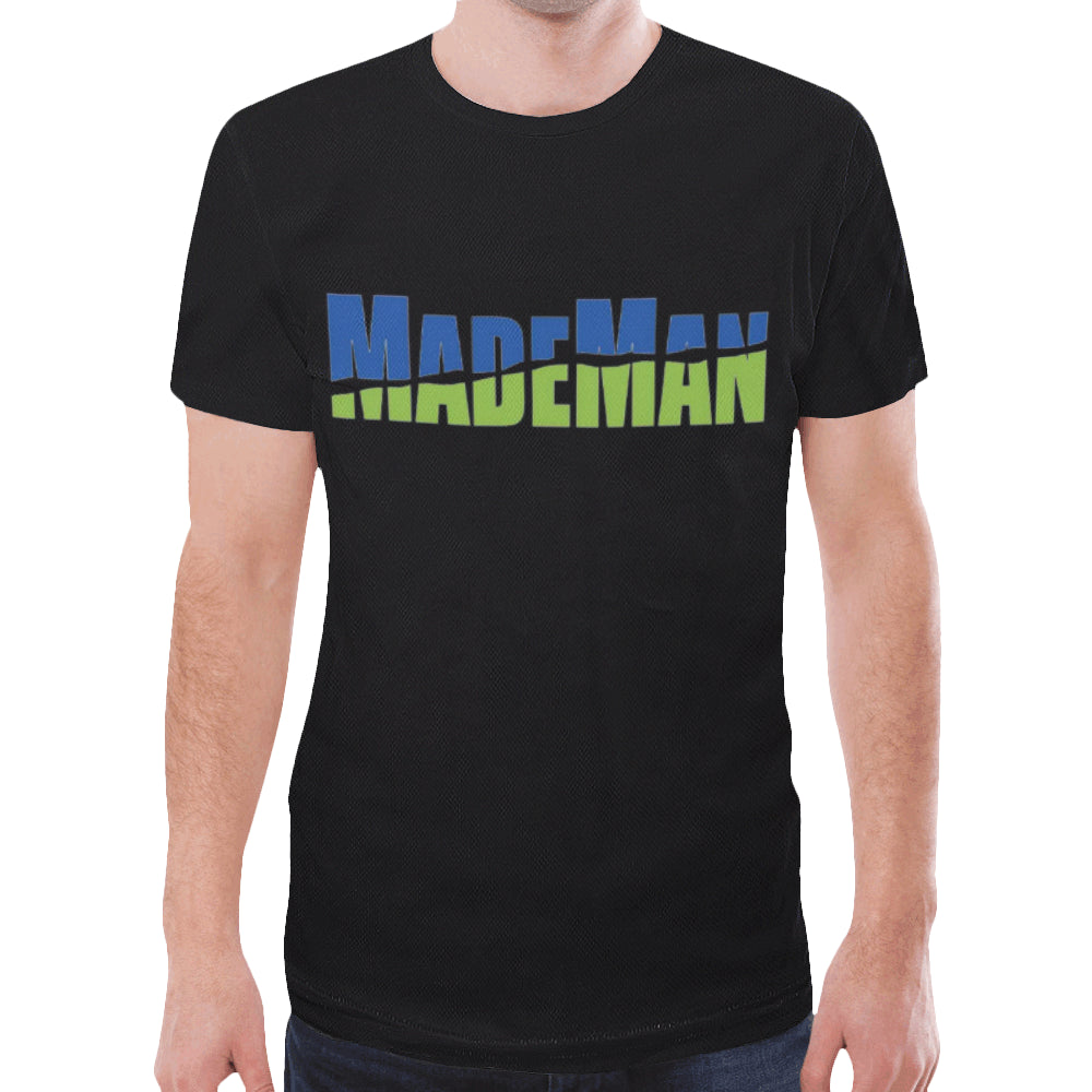 MadeMan 4-5xl New All Over Print T-shirt for Men/Large Size (Model T45)