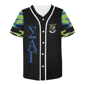 Sigma Alpha Gamma All Over Print Baseball Jersey for Men (Model T50)