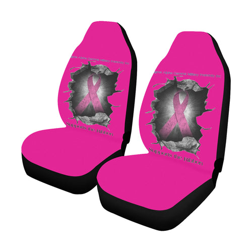 breast cancer breakout Car Seat Covers (Set of 2)