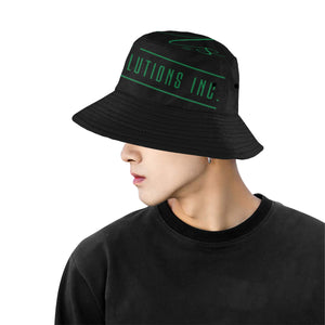 Uncommon Solutions black All Over Print Bucket Hat for Men