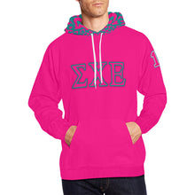 Load image into Gallery viewer, Sigma Chi Epsilon Came Through Drip Pink All Over Print Hoodie for Men (USA Size) (Model H13)