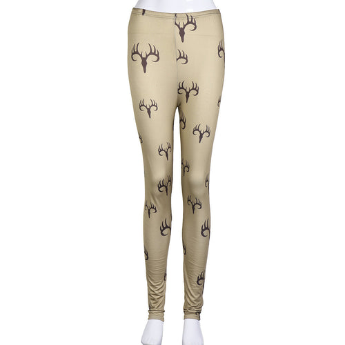 Fashion Women Skinny Printed Stretchy Pants Leggings