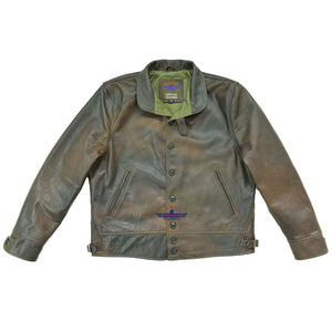 MEN'S REPRO 1930'S VINTAGE COSSACK REAL LEATHER Buffalo Distressed JACKET