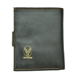 MEN'S VINTAGE WWII AIRMAN'S REAL GOATSKIN  LEATHER WALLET SEAL BROWN