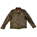MEN'S REPRO 1930'S VINTAGE COSSACK REAL GOATSKIN LEATHER JACKET