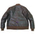 Men Real Goatskin Leather Seal Brown Air Force Repro A-1 Field Jacket Pilot Flying Aviator