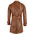 Men Fashion Real Leather Python Cobra Snake Textured Belted Long Coat Sheepskin