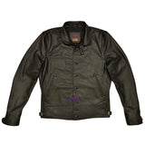 MEN'S REPRO 1930'S VINTAGE COSSACK REAL BLACK STEERHIDE LEATHER JACKET