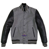 Varsity Baseball University Letterman College Wool body & Leather Sleeves Jacket
