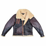 USAAF Type B-3 Bomber Aviator Pilot Seal Brown Leather Flight Jacket