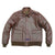 MEN'S TYPE A2 BRONCO MILITARY FLIGHT REAL GOATSKIN LEATHER JACKET