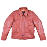 FiveStar Leather Men Californian Half belt Goatskin Leather Jacket