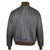 Men Flight A-1 Repro Goatskin Leather Jacket Military Aviation Bomber Seal Brown