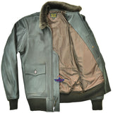 MEN REPRO G1 M422-A PILOT FLYING JACKET USN REAL SEAL BROWN GOATSKIN LEATHER JACKET